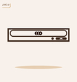 computer disk drive vector image