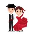flamenco dancers isolated icon design vector image