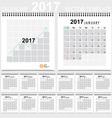 2017 Calendar planner design template Set of 12 vector image