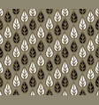 abstract floral seamless pattern with leaves leaf vector image vector image
