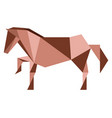 abstract low poly horse icon vector image vector image