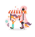 amusement park ice cream cart concept vector image