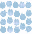 apple seamless pattern it is located in swatch vector image
