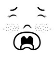 baby face crying vector image vector image