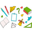 back to school a colored inscription on white vector image vector image