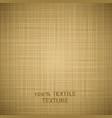 Beige cloth texture background vector image