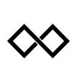 black infinity symbol icon rectangular shape with vector image