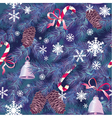 Christmas and New Year background in blue colors vector image vector image