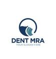 circle dent clinic logo designs simple vector image