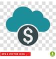 Cloud Banking Icon vector image vector image