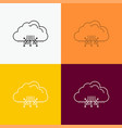 cloud computing data hosting network icon over vector image vector image