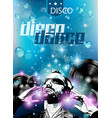 Club background for disco dance international vector image vector image