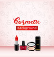 cosmetic background product promo advertising vector image