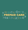 credit card word concepts banner vector image vector image