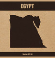 detailed map of egypt on craft paper vector image