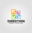 direction logo template vector image vector image