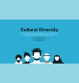 diverse culture landing page template concept vector image vector image