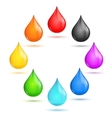 Drop Rainbow Set vector image vector image