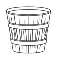 empty wooden flowers pot in black and white vector image