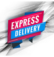 express delivery promotional concept template vector image vector image