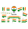flag india circle and square and round vector image vector image