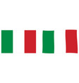flag of italy simple and slightly waving version vector image