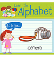 Flashcard letter C is for camera vector image vector image