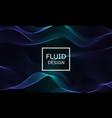 flow shapes design liquid wave background vector image vector image
