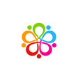 flower people logo icon design vector image vector image