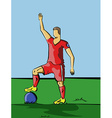 Football Player Red Sportswear vector image