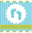 footprint of boy vector image vector image