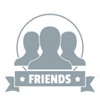friends logo simple gray style vector image vector image