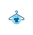 globe laundry logo icon design vector image vector image