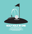 Golf Hole in One Sport Symbol vector image vector image