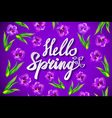 Hand drawn spring inspirational quote - hello vector image vector image
