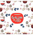 hand holding coffee cup latte americano espresso vector image vector image
