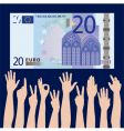 hands euro vector image
