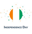 independence day of cote d ivoire patriotic vector image
