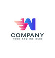 initial w wings logo logo design template vector image vector image