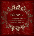 invitation card with golden royal ornaments vector image vector image