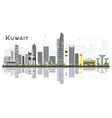 kuwait city skyline with gray buildings and vector image vector image