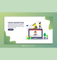 landing page template video marketing modern vector image vector image