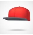 Layout of Male color rap cap vector image vector image