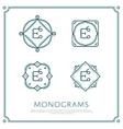 Letter E Monogram vector image vector image