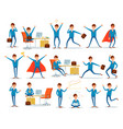 man characters of businessman working in office vector image vector image