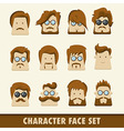 Men character icon set vector image