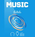 music banner or brochure cover design vector image vector image