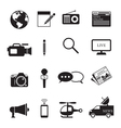 News and Journalism Mono Icons Set vector image