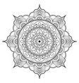 outline drawing pattern oriental style mandala vector image