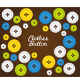 pattern of colored buttons isolated on brown backg vector image